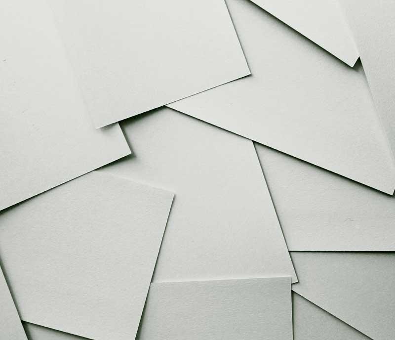 Nutzen Sie Recyclingpapier für Ihre Briefbögen